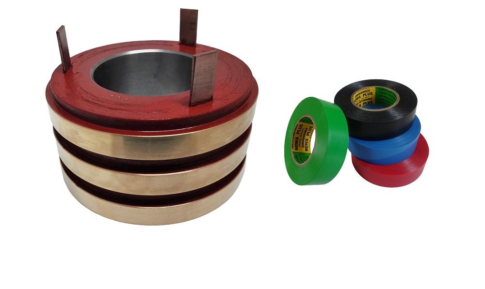Głowica pierścieni ślizgowych wykonywana na zamówienie i taśmy elektroizolacyjne PVC