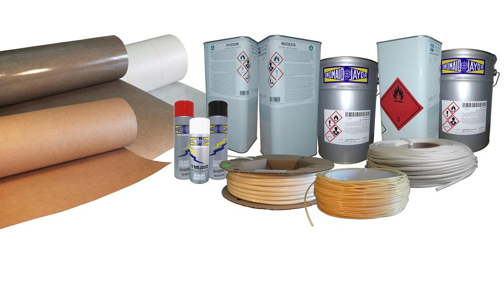 Materiały elektroizolacyjne takie jak lakier elektroizolacyjny, koszulka elektroizolacyjna, preszpan, tereszpan, folia mylar, nen, szkłoflex, epoksterm