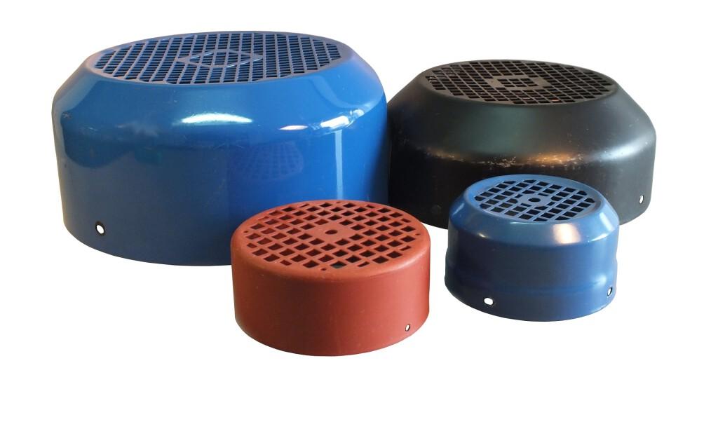 Różne rodzaje metalowych osłon przewietrzników, metalowa osłona przewietrznika, osłona silnika elektrycznego