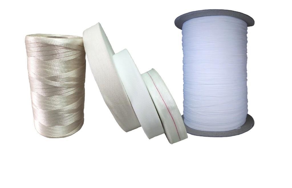 Taśmy do wiązania uzwojeń i sznur do wirników, taśma bawełniana, taśma torlenowa, taśma Cordel, taśma z włókna szklanego,
