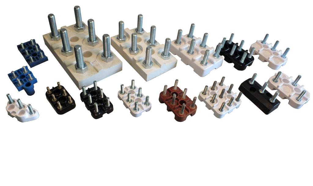 Różne rodzaje tabliczek zaciskowych do silników elektrycznych, tabliczki przyłączeniowe, klemrety
