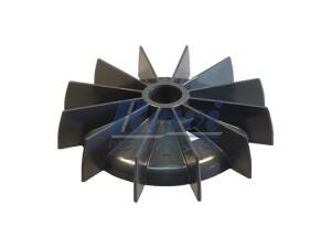Przewietrznik do silnika elektrycznego na wałek 21,5 mm o średnicy zewnętrznej 143 mm, wentylator silnika elektrycznego