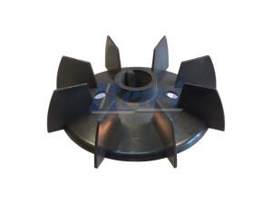 Przewietrznik do silnika elektrycznego na wałek 25 mm o średnicy zewnętrznej 147 mm, wentylator silnika elektrycznego