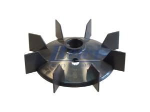 Przewietrznik do silnika elektrycznego na wałek 22 mm o średnicy zewnętrznej 141 mm, wentylator silnika elektrycznego