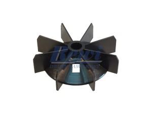 Przewietrznik do silnika elektrycznego na wałek 13 mm o średnicy zewnętrznej 102 mm