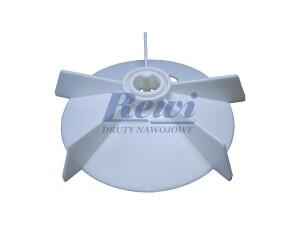 Przewietrznik do silnika elektrycznego na wałek 16 mm o średnicy zewnętrznej 135 mm