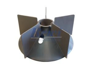 Przewietrznik do silnika elektrycznego na wałek 45 mm o średnicy zewnętrznej 220 mm