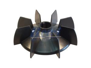 Przewietrznik do silnika elektrycznego na wałek 25 mm o średnicy zewnętrznej 152 mm, wentylator silnika elektrycznego