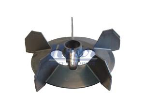 Przewietrznik do silnika elektrycznego na wałek 28 mm o średnicy zewnętrznej 202 mm, wentylator silnika elektrycznego