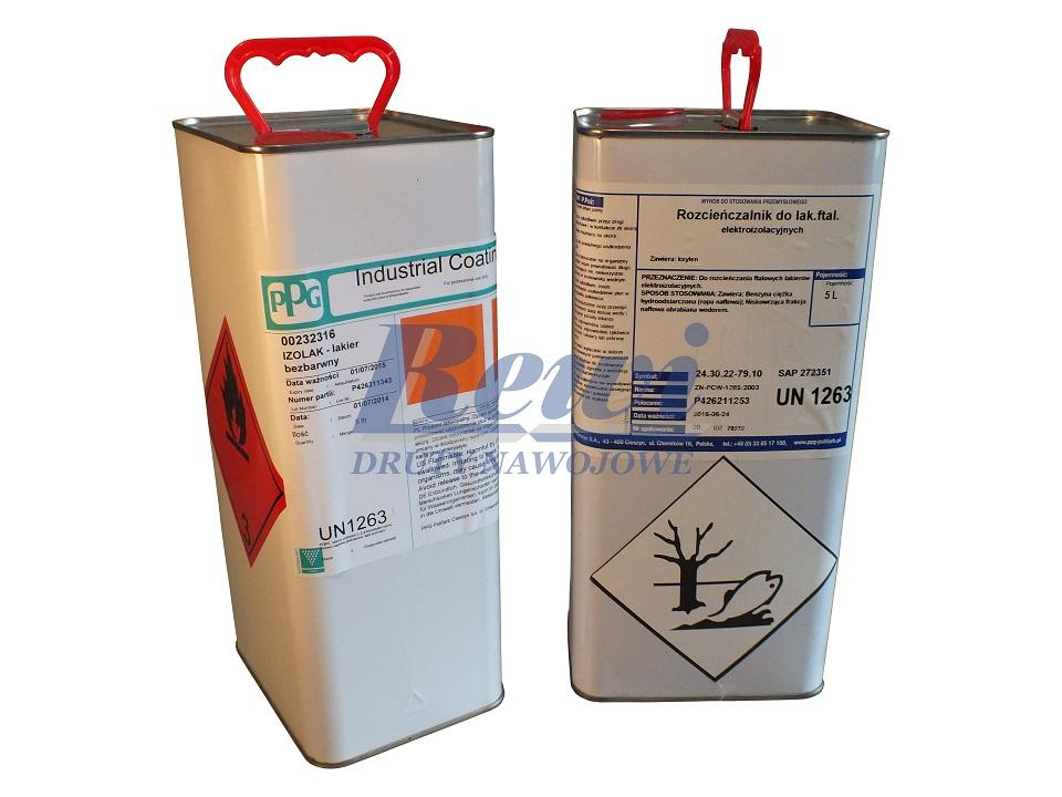 lakier elektroizolacyjny w metalowych pojemnikach, puszka lakieru elektroizolacyjnego