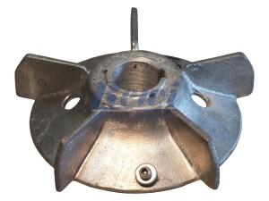 Przewietrznik do silnika elektrycznego na wałek 28 mm o średnicy zewnętrznej 155 mm, wentylator silnika elektrycznego