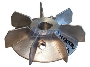 Przewietrznik do silnika elektrycznego na wałek 24 mm o średnicy zewnętrznej 155 mm, wentylator silnika elektrycznego
