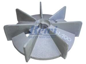 Przewietrznik do silnika elektrycznego na wałek 25 mm o średnicy zewnętrznej 165 mm, wentylator silnika elektrycznego