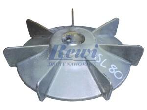 Przewietrznik do silnika elektrycznego na wałek 20 mm o średnicy zewnętrznej 120 mm, wentylator silnika elektrycznego