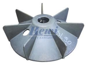 Przewietrznik do silnika elektrycznego na wałek 20 mm o średnicy zewnętrznej 140 mm, wentylator silnika elektrycznego