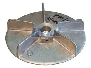 Przewietrznik do silnika elektrycznego na wałek 24 mm o średnicy zewnętrznej 180 mm, wentylator silnika elektrycznego