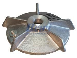 Przewietrznik do silnika elektrycznego na wałek 16 mm o średnicy zewnętrznej 128 mm, wentylator silnika elektrycznego