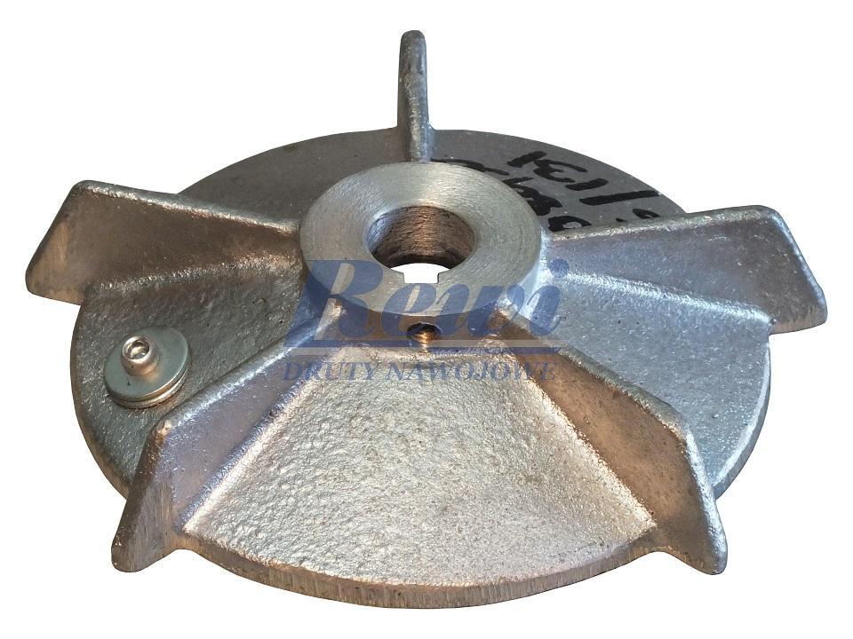 Przewietrznik do silnika elektrycznego na wałek 16 mm o średnicy zewnętrznej 128 mm