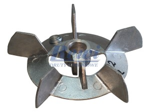 Przewietrznik do silnika elektrycznego na wałek 22 mm o średnicy zewnętrznej 180 mm, wentylator silnika elektrycznego