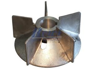 Przewietrznik do silnika elektrycznego na wałek 45 mm o średnicy zewnętrznej 220 mm, wentylator silnika elektrycznego