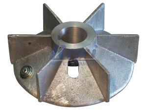 Przewietrznik do silnika elektrycznego na wałek 40 mm o średnicy zewnętrznej 195 mm, wentylator silnika elektrycznego