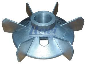 Przewietrznik do silnika elektrycznego na wałek 42 mm o średnicy zewnętrznej 215 mm, wentylator silnika elektrycznego