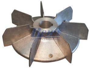 Przewietrznik do silnika elektrycznego na wałek 42 mm o średnicy zewnętrznej 285 mm, wentylator silnika elektrycznego