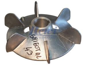 Przewietrznik do silnika elektrycznego na wałek 43 mm o średnicy zewnętrznej 250 mm, wentylator silnika elektrycznego