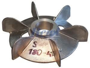 Przewietrznik do silnika elektrycznego na wałek 58 mm o średnicy zewnętrznej 270 mm, wentylator silnika elektrycznego
