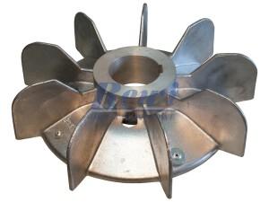 Przewietrznik do silnika elektrycznego na wałek 68 mm o średnicy zewnętrznej 340 mm, wentylator silnika elektrycznego