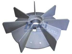 Przewietrznik do silnika elektrycznego na wałek 35 mm o średnicy zewnętrznej 230 mm, wentylator silnika elektrycznego