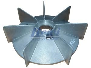 Przewietrznik do silnika elektrycznego na wałek 45 mm o średnicy zewnętrznej 260 mm, wentylator silnika elektrycznego