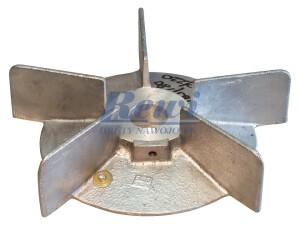Przewietrznik do silnika elektrycznego na wałek 28 mm o średnicy zewnętrznej 215 mm, wentylator silnika elektrycznego