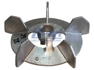 Przewietrznik do silnika elektrycznego na wałek 28 mm o średnicy zewnętrznej 200 mm, wentylator silnika elektrycznego