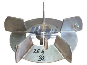 Przewietrznik do silnika elektrycznego na wałek 32 mm o średnicy zewnętrznej 240 mm, wentylator silnika elektrycznego