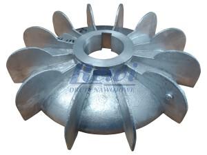 Przewietrznik do silnika elektrycznego na wałek 52 mm o średnicy zewnętrznej 240 mm, wentylator silnika elektrycznego