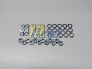 Mostek do tabliczek zaciskowych, mostkowanie śrub M4, zestaw do mostkowania, złączka, nakrętka, podkładka