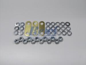 Mostek do tabliczek zaciskowych, mostkowanie śrub M6, zestaw do mostkowania, złączka, nakrętka, podkładka