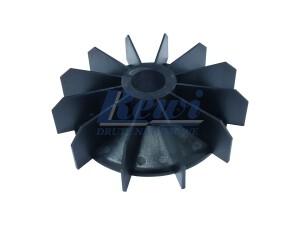Przewietrznik do silnika elektrycznego na wałek 28 mm o średnicy zewnętrznej 154 mm, wentylator silnika elektrycznego